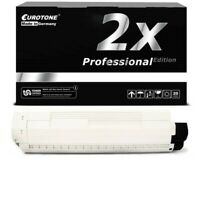 2x Eurotone Pro Cartridge Black for Oki ES-8451-CDXN ES-8451-plus ES-8461-CDTN