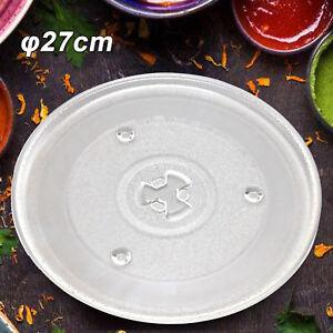 Mikrowellenteller 27cm Drehteller Mikrowelle Teller Universalteller Glasteller