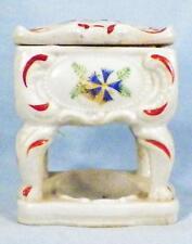 Vintage Trinket Box Pin Dish Ring Holder Orange Blue Flowers Table Japan Unusual