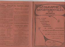 LIVRET DE GEOGRAPHIE DEPARTEMENTALE DE LA FRANCE-DOUBS-A.LESOT- 1928- CARTES