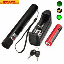 Neuer Starker High Power Grün Laserpointer Pen+Lasereffekt Kappe+Akku+Schlüssel