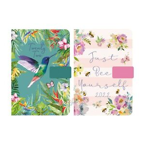 2022 Diary Day a Page Index Personal Organiser A5/A6 Hardback Appointment Book