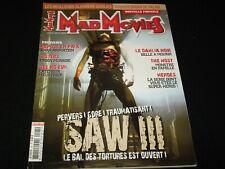 MAD MOVIES Magazine° NOVEMBER 2006 No.191<>FRANCE (FRENCH) MAG<> SAW 111