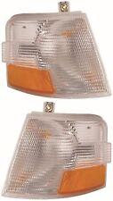 VOLVO VN VNL VNM TURN SIGNAL CORNER LIGHTS PAIR LAMPS 1996-2003 2000 2001 2002