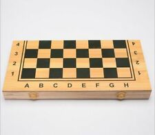 Folding Wood 3 in 1 Game Chess Checkers Backgammon and Chess