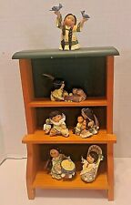 Enesco Friends Of The Feather Lot of 6 Small Figurines Plus Shadow Box Shelves