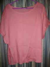 Apricot Sleeveless Top Size 20 Atmosphere