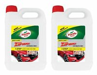 Turtle Wax Zip Super Concentrated Car Wash Shampoo & Wax Cleaning 2 x 5 Litre