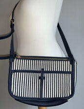 Accessorize Cross Body Navy Striped Nautical Adjustable Bag, BNWOT