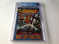 DOC SAVAGE 1 CGC 9.0 WHITE PAGES BIOGRAPHY KENNETH ROBESON MARVEL COMICS