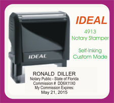 Florida Notary Public Trodat Printy Ideal Custom Self Inking Rubber Stamp