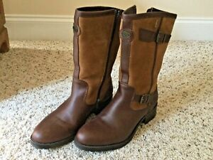 EUC Le Chameau Camel Nubuck Brown Leather Gore-Tex Rain Boots 8.5/10.5