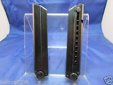 TWO Magazine For German Luger Mag P08 1908 9mm 30 Black Bottom 8 RDS