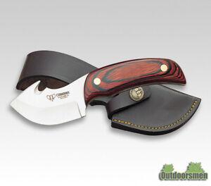 Cudeman 137-R Guthook Hunter Skinner 7cm Klinge Jagdmesser mit Lederscheide