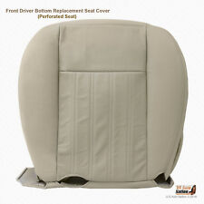 2003 2004 Lincoln Aviator Front Driver Bottom PERFORATED Leather Seat Cover Tan