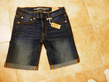 NWT American Eagle Outfitters Denim Low Rise Bermuda Shorts Size 6 Dark