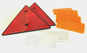 Completo Remolque & Caravana Reflectante Kit- 4x Ámbar & 2X Blanco & 2X Rojo