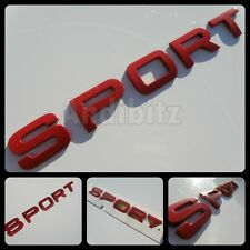 RANGE ROVER SPORT RED REAR BACK BADGE TAILGATE PART ULTIMATE UPGRADE HST HSE