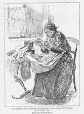 Victorian Hair Brush maker - Antique Print 1888