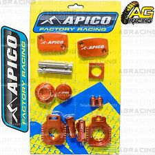 Apico Bling Pack Orange Blocks Caps Plugs Nuts Clamp Cover For KTM XC-W 300 2009