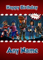 Personalised ANY Name//Age Roblox Computer Game Birthday Badge Party Boy//Girl