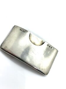 Great Antique Vintage 1896 Victorian Solid Silver Card Case 35.7g #782