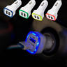 2.1A LED USB Dual 2 Port Adapter Socket Car Charger For All Phone Samsung HTC
