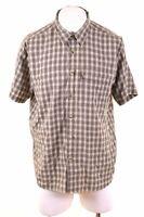 THE NORTH FACE Mens Shirt Short Sleeve XL Green Check Modal  FP15
