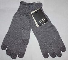 UGG Australia Women's Gray/Silver Metallic Nyla Bailey Smart Gloves Sz OS **