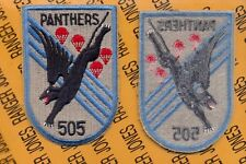 """US Army 505th Airborne Infantry Regiment 82nd Panthers 5"""" pocket patch"""