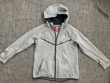 Nike Hoodie Kids Size L Grey Black Sport Gym Jumper Pullover Zip