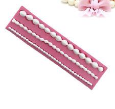 silicone fondant mold pearl bead chain cake border gumpaste resin sugar paste