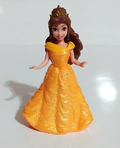 """2009 Mattel Polly Pocket Disney Princess Bell Beauty and the Beast 4"""" Loose Toy"""
