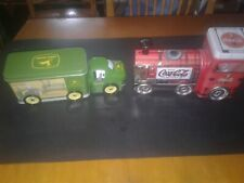 VINTAGE AMERICAN ICONS John Deere Truck & Coca Cola Train Clean Tins w/ BONUS*