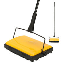CLEANHOME MANUAL CARPET SWEEPER BRUSH CORDLESS RUG CLEANER DUSTER BROOM