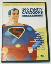 100 Family Cartoons: Vol. 1 DVD.  Over 11 Hours.  Superman, Mighty Mouse & More!