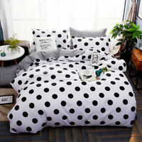 Polka Dot Doona Duvet Cover Quilt Cover Bedding Set Pillowcase Single Queen King