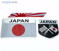 Japanese Flag Emblem Car Stickers Auto Mobile Styling Badge Decals Accessories