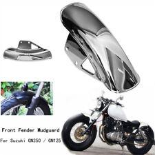 Silber Metall Motorrad Kotflügel vorne Schutzblech 1x für Suzuki GN125