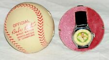 1948 Babe Ruth Exact Wrist Watch and Plastic Baseball Case, Working Condition