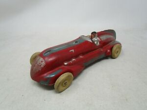 """Vintage Large 10"""" ARCOR TOYS RUBBER INDY STYLE RACE CAR TOY"""
