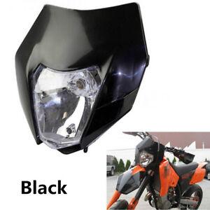 Dirt Bike Transparent Glass Lens Cover Headlight Lamp For RSX EXC XC XCF SXF