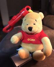 "Disney Guam Pooh 4"" Keychain Beanbag Plush New W/tags RARE"