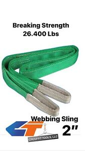 "🔥2""(Various Length) 2-Ply Polyester/Nylon Web Sling Lift Tow Strap Heavy Duty"