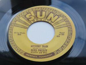 ELVIS PRESLEY  SUN 45  MYSTERY TRAIN    SUN 223    1970s  REPRO