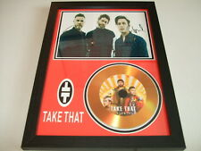 TAKE THAT  SIGNED GOLD CD  DISC  43