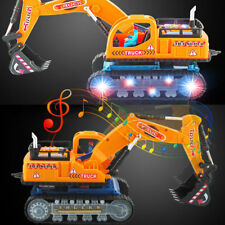 Toys for Boys Toddler LED Electric Excavator Truck Kids Car Cool Christmas Gifts
