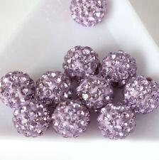 Multi-color  Beads Strass Disco Kugel Ball DIY 10mm