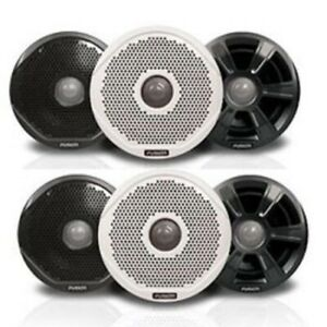 """NEW Pair FUSION MS-FR6022 6"""" 2 way Speakers w/ 3 Sets of Grills FUS-010-01848-00"""