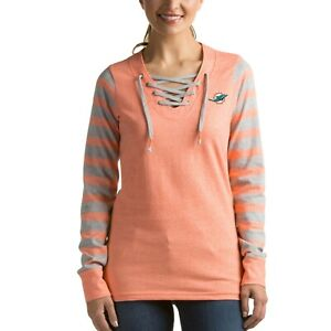 NFL Miami Dolphins Women's Rumble Lace-Up Sweatshirt # Small